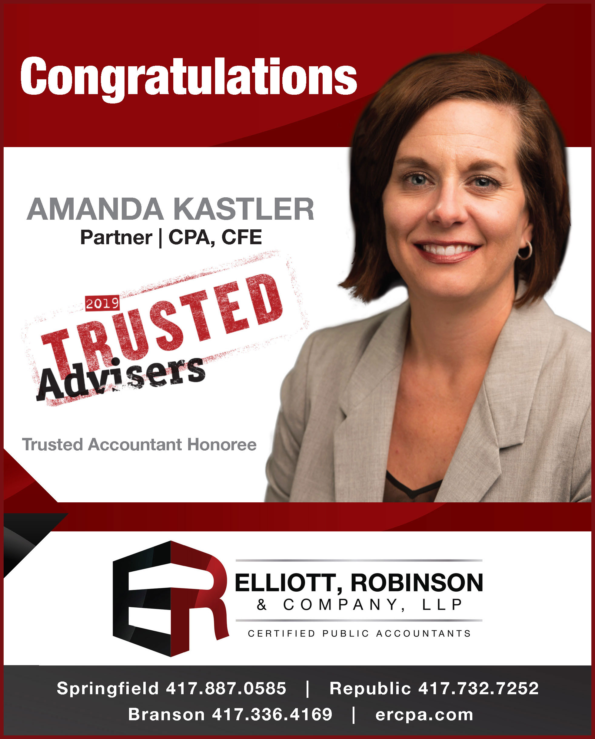 Kastler Honored as Trusted Adviser